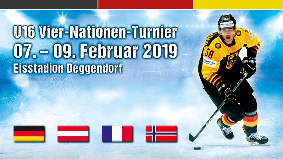 Internationales Nachwuchs-Eishockey: 4-Nationenturnier vom 07. bis 09. Februar in Deggendorf