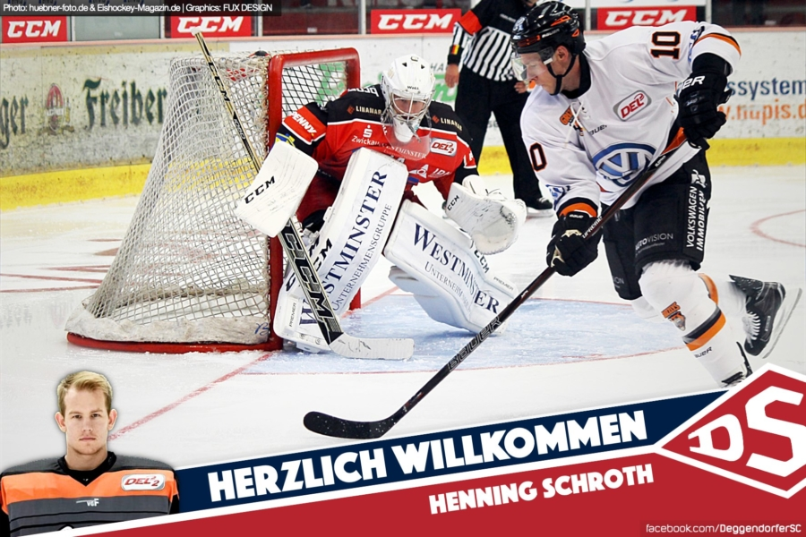 Henning Schroth komplettiert das Torhüterduo des Deggendorfer SC