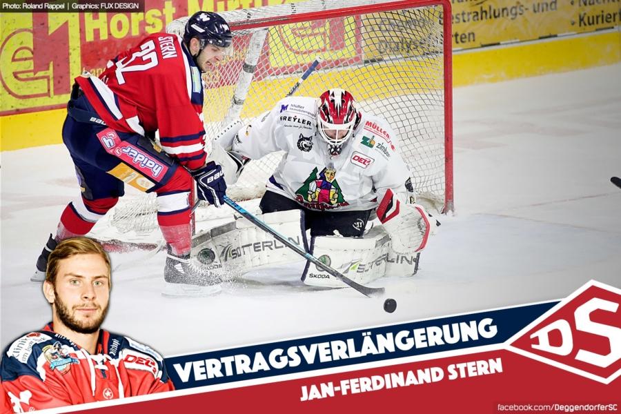 Ein waschechter Deggendorfer bleibt: Jan-Ferdinand Stern verlängert