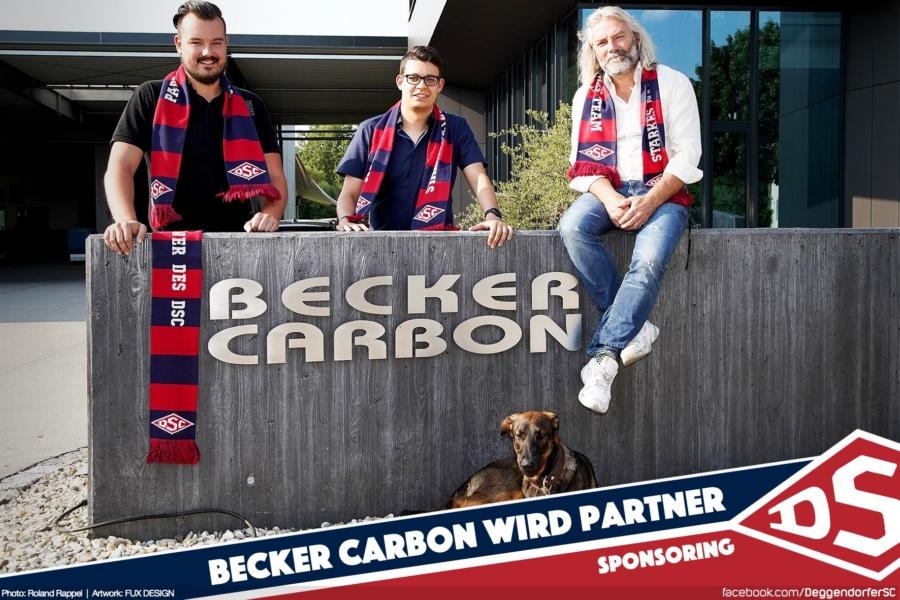 Der DSC freut sich über einen weiteren neuen Partner: Becker Carbon unterstützt das Deggendorfer Eishockey