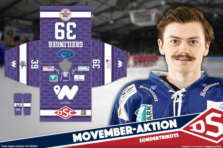 DSC im Movember: Mit speziellen Trikots Bewusstsein schaffen