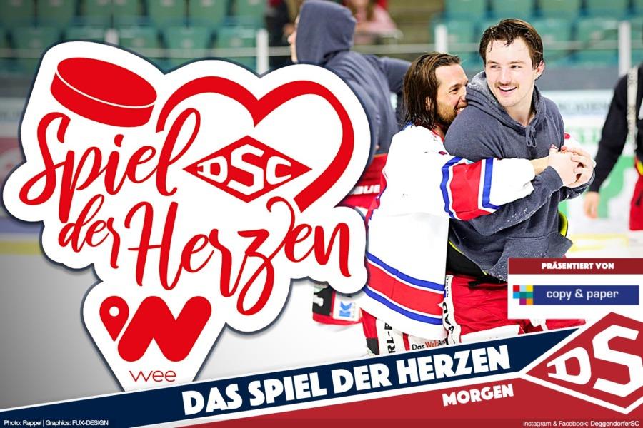 Weihnachtszeit ist Herzenszeit: DSC am 22.12.2019 im Spiel der Herzen gegen Regensburg