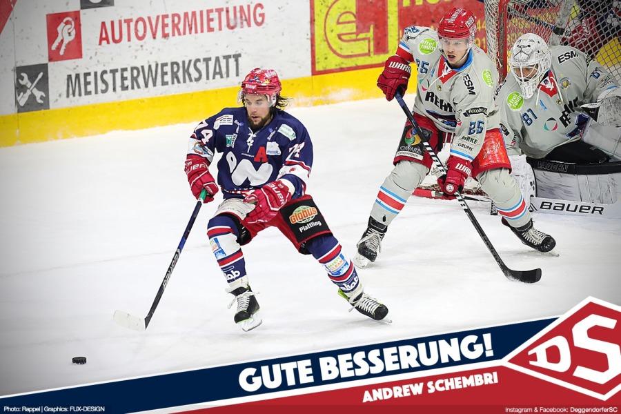 Deggendorfer SC bestätigt Ausfall von Andrew Schembri