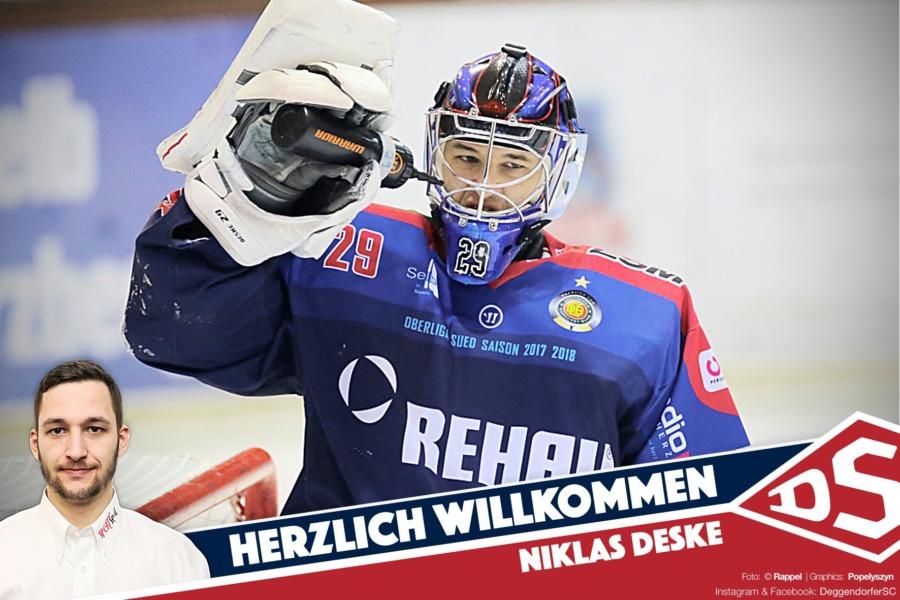 DSC verpflichtet mit Niklas Deske eine neue Nr. 1 – Abschied von David Zabolotny