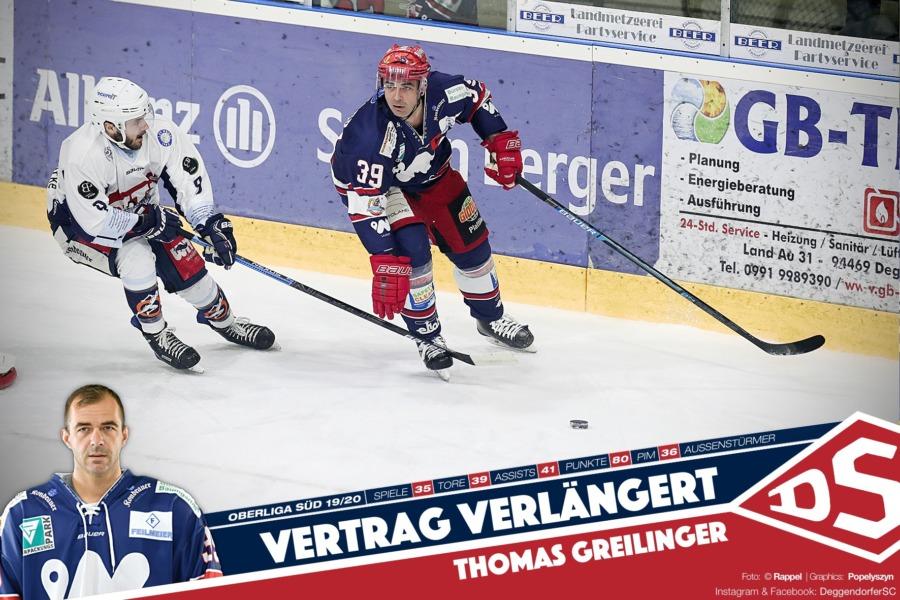 Topstürmer Thomas Greilinger bleibt auch in der kommenden Saison an Bord