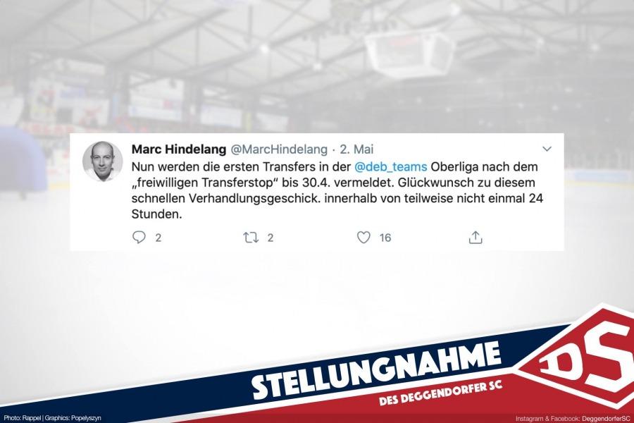 Stellungnahme der Vorstandschaft des DSC zum Tweet von DEB-Vizepräsident Marc Hindelang