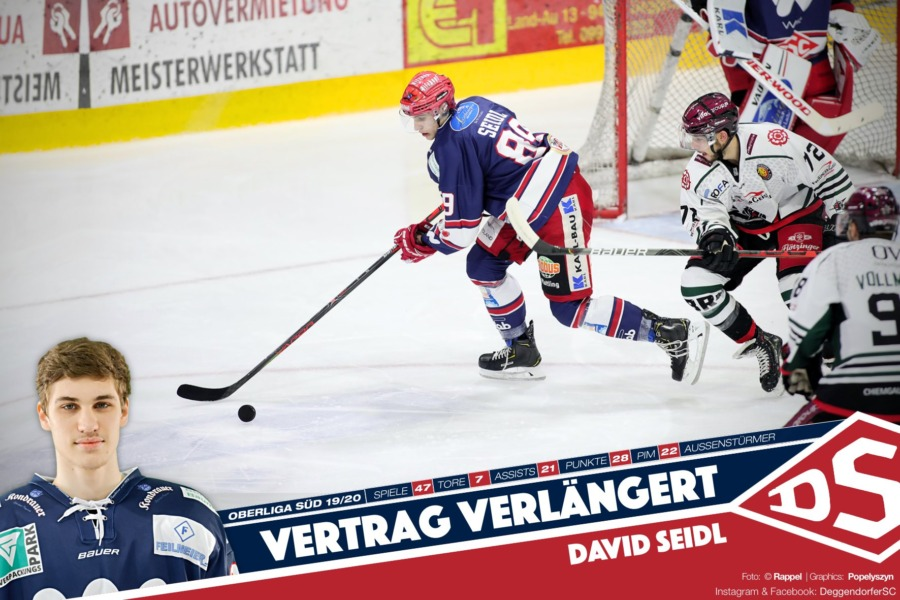 Nach starker Rookie-Saison: David Seidl bleibt dem Deggendorfer SC treu