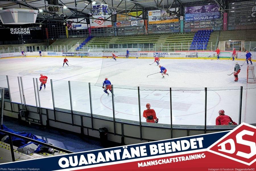 The boys are back – DSC nach Quarantäne zurück auf dem Eis!