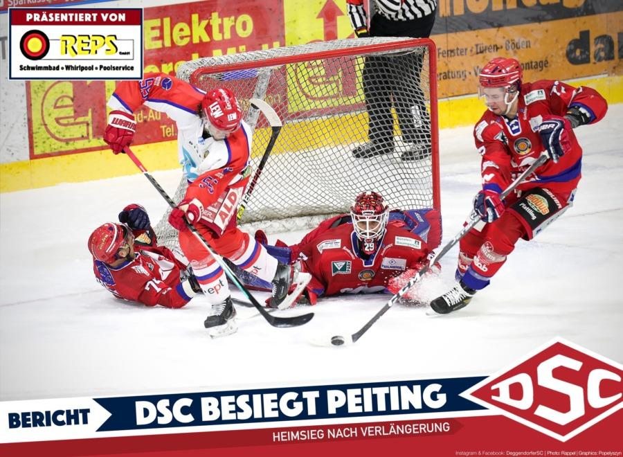Sieg im Penaltyschießen: DSC ringt Peiting nieder