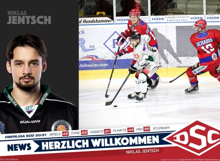 Pfeilschnell und torhungrig: Deggendorfer SC nimmt Niklas Jentsch unter Vertrag