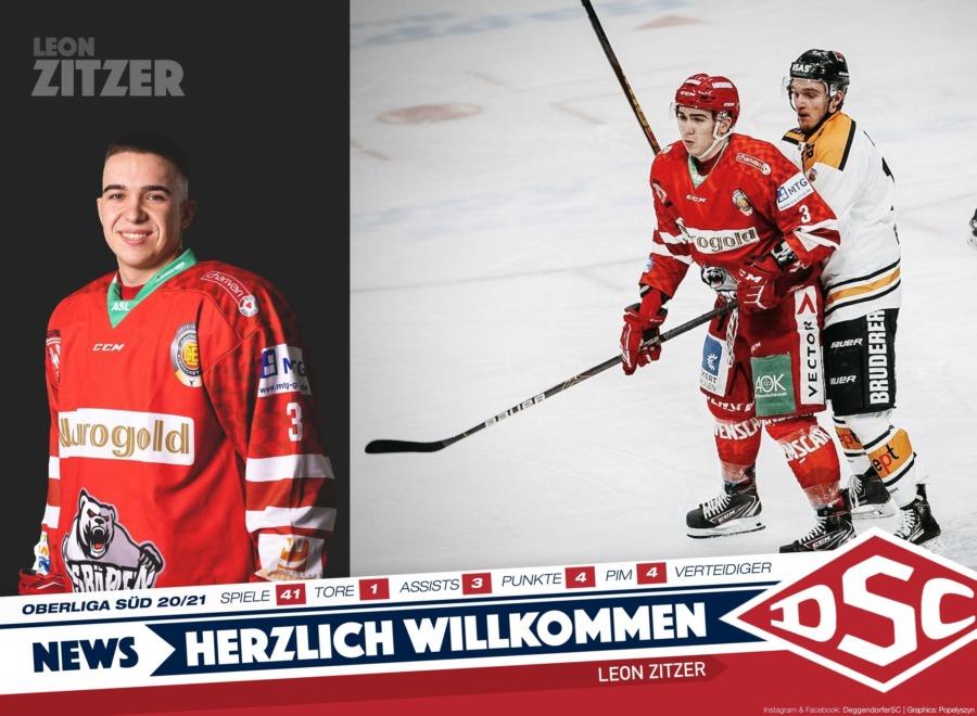 Deggendorfer SC verpflichtet Verteidiger Leon Zitzer