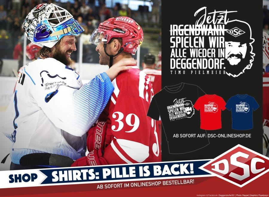 Jetzt spielen wir alle wieder in Deggendorf! T-Shirt Aktion startet ab sofort!