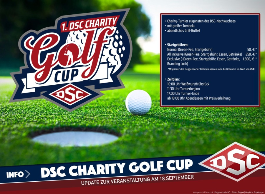 Beim DSC Charity Golf Cup am 18.09.2021 sind noch Plätze frei!