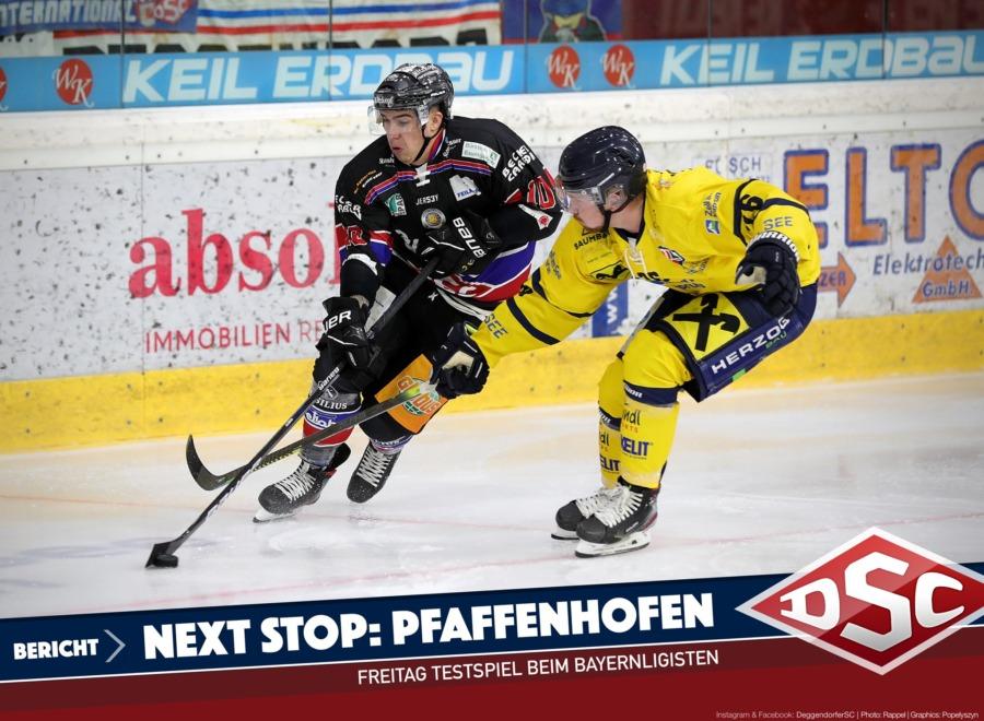 Deggendorfer SC testet gegen Pfaffenhofen