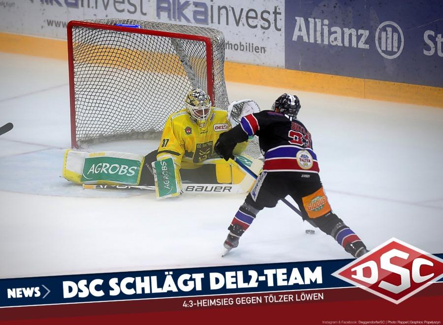 Deggendorfer SC ringt Zweitligist aus Bad Tölz in die Knie