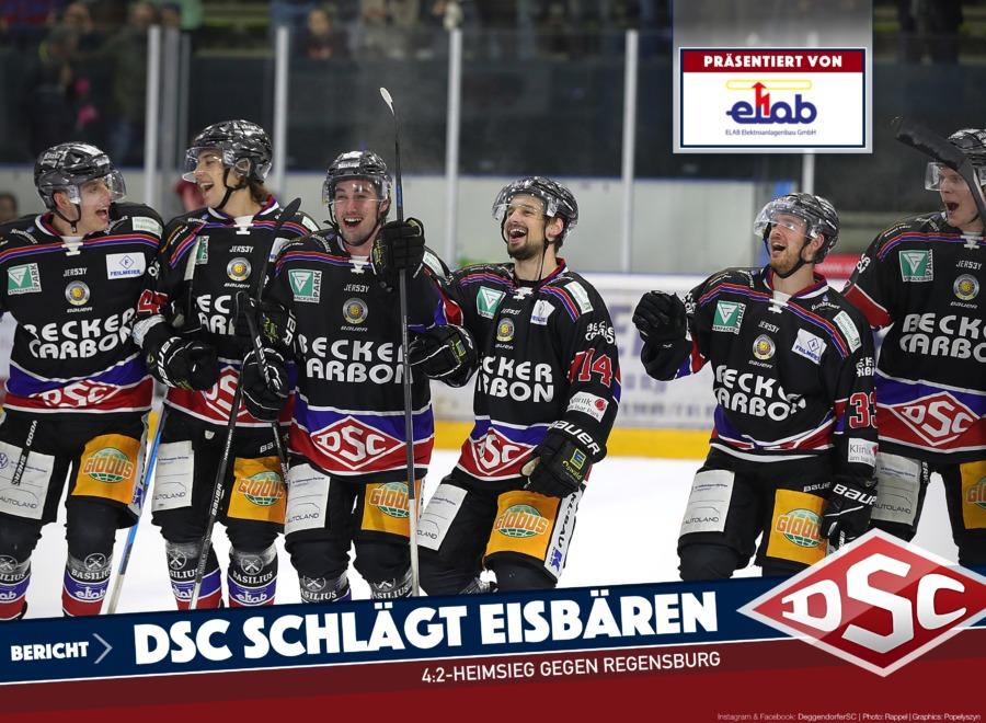 Derbysieger! Sechs-Punkte-Wochenende nach Heimsieg gegen die Eisbären Regensburg