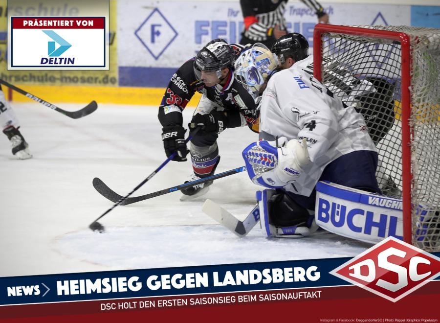 Deggendorfer SC müht sich zum Auftaktsieg über die Landsberg Riverkings