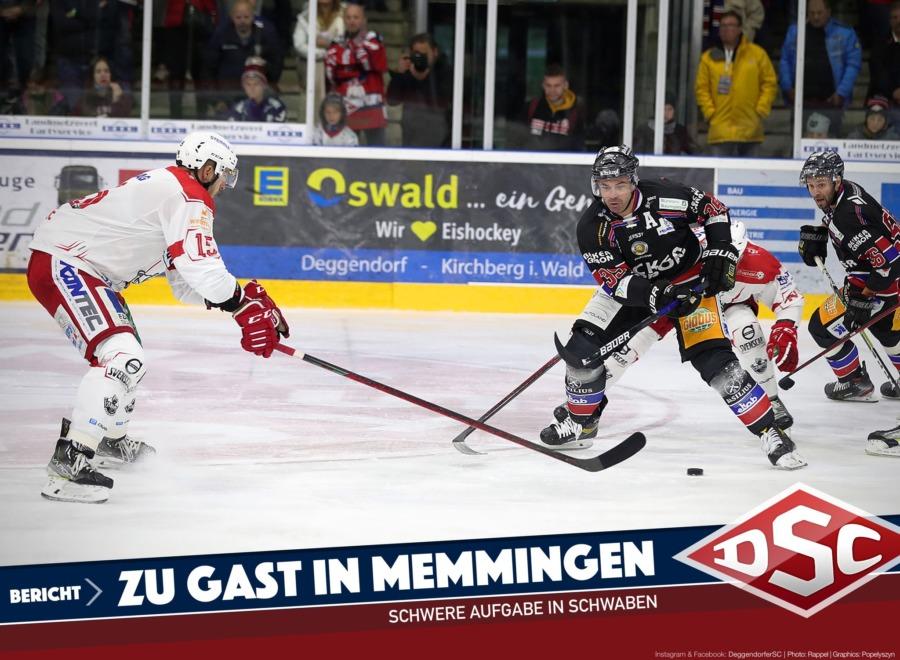 Das erste Deggendorfer Gastspiel steigt in Memmingen
