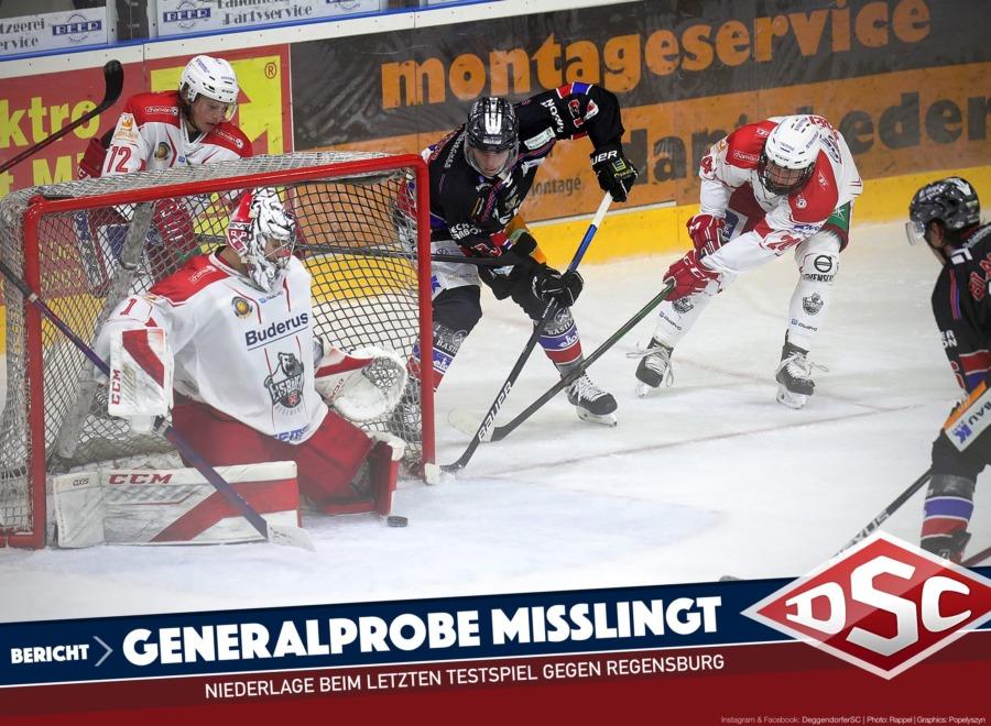 Generalprobe missglückt: Deggendorfer SC unterliegt Regensburg